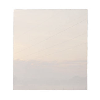 Sun surfaces above the clouds over foggy Pasture Notepad