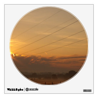 Sun surfaces above the clouds over foggy Pasture Room Decal