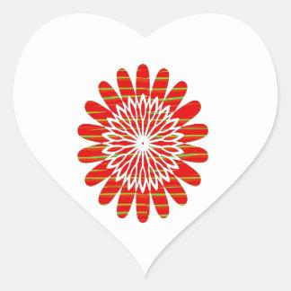 SUN SUTRA : Reiki Master created RED SHADE energy Heart Sticker