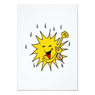 Sun Sweating 3.5x5 Paper Invitation Card