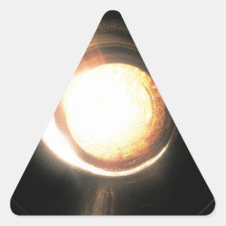 sun swirl triangle sticker