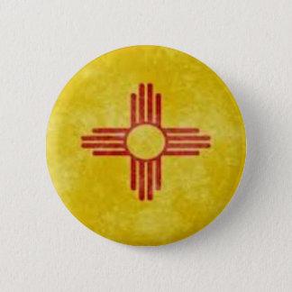 Sun Symbol of New Mexico Pinback Button