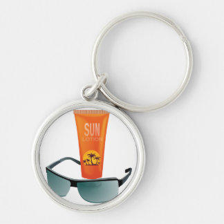 Sun Tan Lotion Keychain