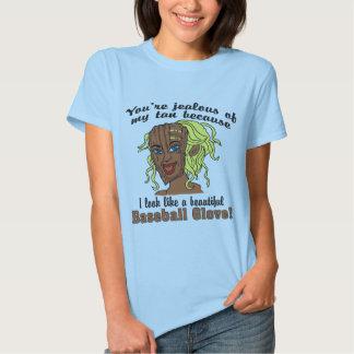 Sun Tan Mom I Look Like a Baseball Glove Ladies T T Shirt