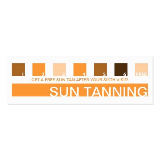 SUN TANNING customer appreciation (mod squares) Business Card Template