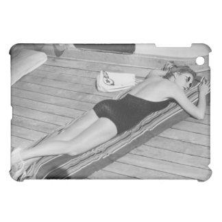 Sun Tanning Woman iPad Mini Covers