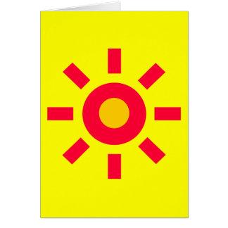 Sun Tarjeta De Felicitación
