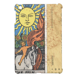 Sun Tarot Card Vintage Postcard Fortune Teller Cover For The iPad Mini