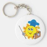 Sun teacher keychain