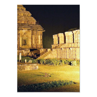 "Sun Temple, Konark, India 5"" X 7"" Invitation Card"