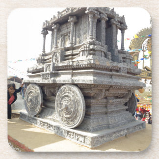 SUN temples of India miniature stone craft statue Beverage Coaster