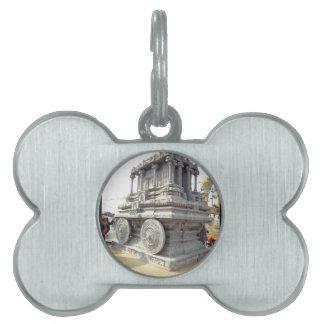 SUN temples of India miniature stone craft statue Pet ID Tag