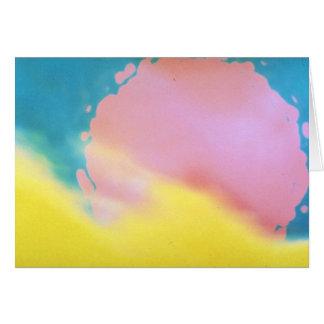 Sun texture card