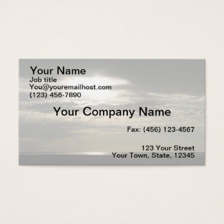Sun Through Clouds on Antelope Island Business Card