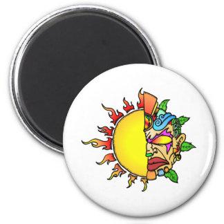 Sun Tiki 2 Inch Round Magnet