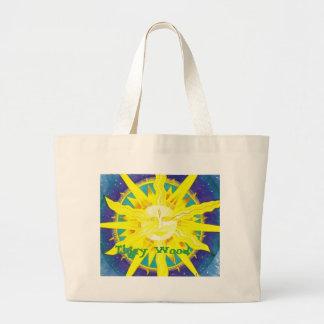 sun, Tlgey Wood Large Tote Bag