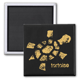 Sun Tortoise Square Magnet
