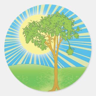 sun & tree Sticker