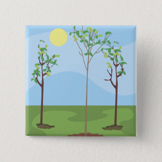 Sun & Trees - Button