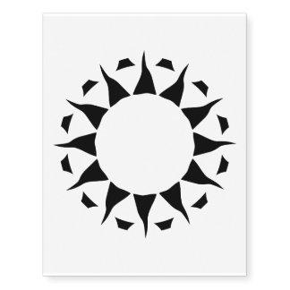 Sun tribal 2 grande tatuajes temporales