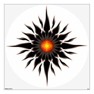 Sun tribal llameante vinilo adhesivo