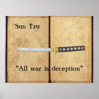 Sun Tzu - All war is deception Poster