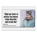 Sun Tzu: Finja el desorden Felicitacion