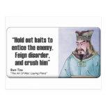 Sun Tzu: Finja el desorden Tarjetas Postales