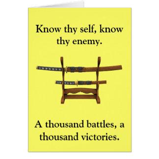 Sun Tzu Quote Card