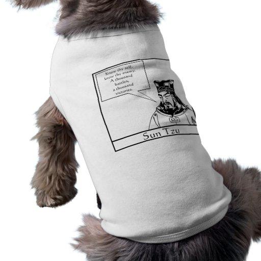 Sun Tzu y cita Camisa De Mascota