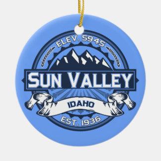 Sun Valley Blue Ceramic Ornament