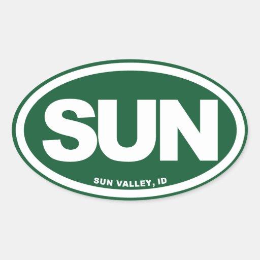 Sun Valley Calcomanías De Óvales Personalizadas