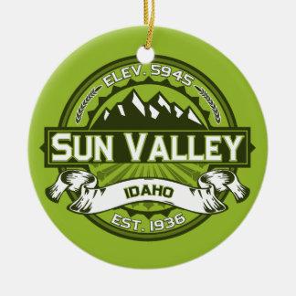 Sun Valley Green Ceramic Ornament