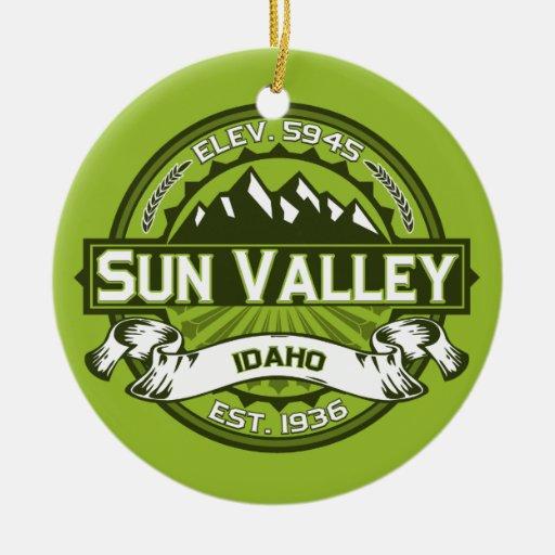 Sun Valley Green Ornaments