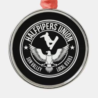 Sun Valley Halfpipers Union Metal Ornament