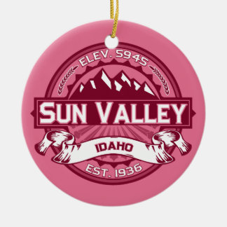Sun Valley Honeysuckle Ceramic Ornament