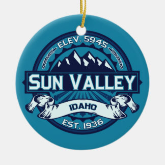 Sun Valley Ice Ceramic Ornament