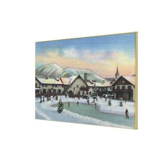 Sun Valley, ID - Challenger Inn in Winter Canvas Print