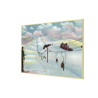 Sun Valley, ID - Sawtooth Mnts. Riding Ski Canvas Print