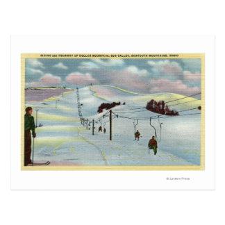 Sun Valley, ID - Sawtooth Mnts. Riding Ski Postcard