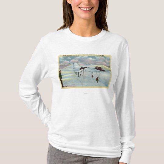Sun Valley, ID - Sawtooth Mnts. Riding Ski T-Shirt