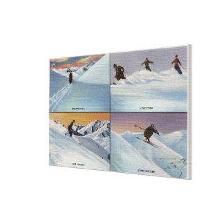 Sun Valley, ID - Ski Canvas Print