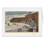 Sun Valley, ID - Ski Party at Lodge Sawtooth Greeting Card