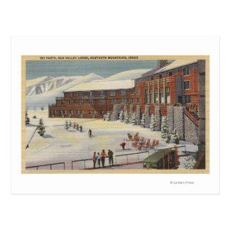 Sun Valley, ID - Ski Party at Lodge Sawtooth Postcard