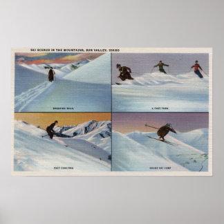 Sun Valley, ID - Ski Poster