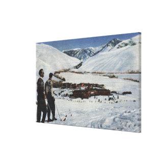 Sun Valley, ID - Winter Scene of Sun Valley Canvas Print