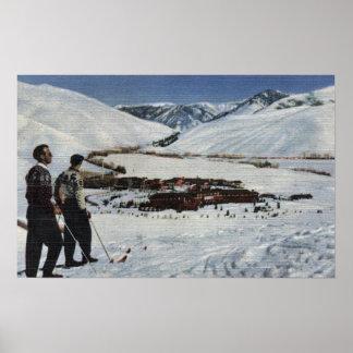 Sun Valley, ID - Winter Scene of Sun Valley Poster