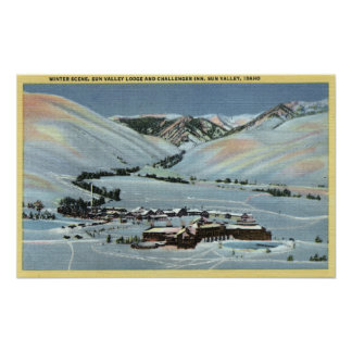 Sun Valley, ID - Winter Scene, Sun Valley Poster