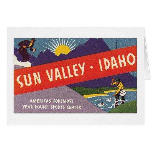 Sun Valley Idaho Tarjeta De Felicitación