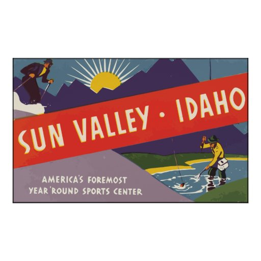 Sun Valley Idaho, Vintage Print